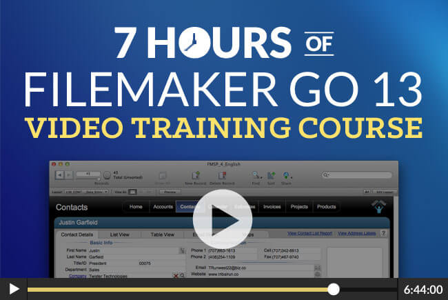 FileMaker Go 13 Video Course