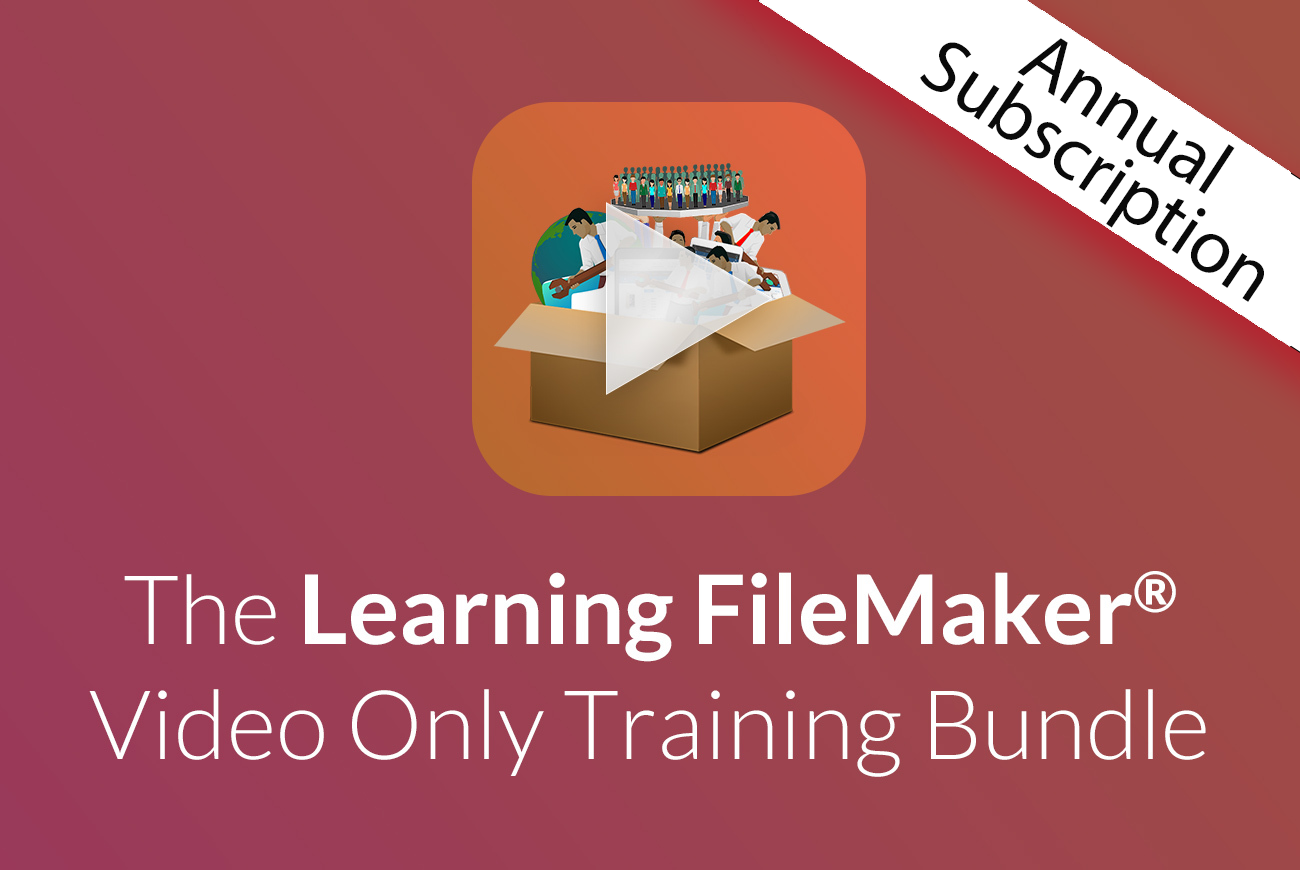 The Learning FileMaker Video Only Training Bundle
